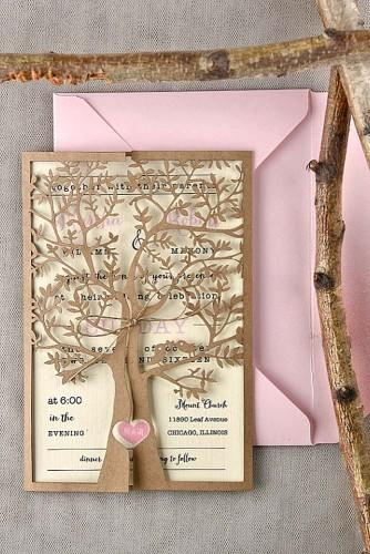 rustic wedding invitations 2