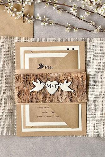 rustic wedding invitations 3