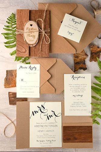 rustic ideas for wedding invitations 24