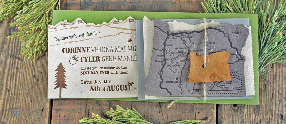 rustic wedding invitation featured