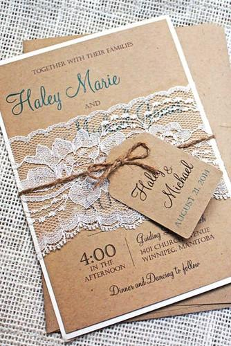 rustic ideas for wedding invitations 25