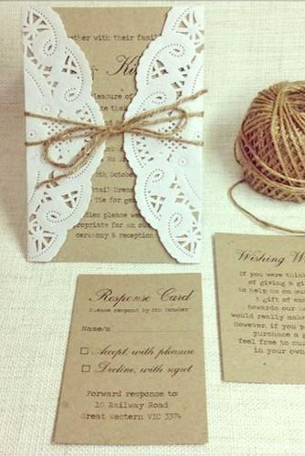rustic ideas for wedding invitations 1