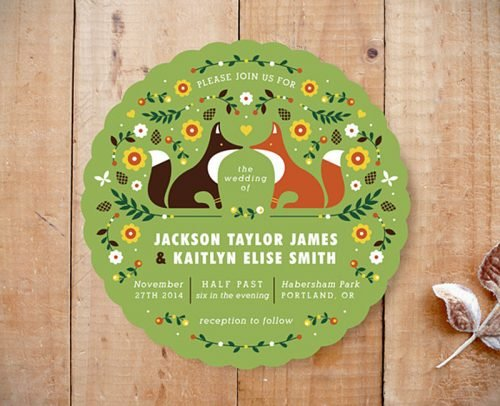 sunflower wedding invitations sunflowers foxes invitation with rounded edge