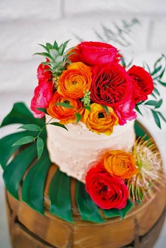tropical wedding cakes 1