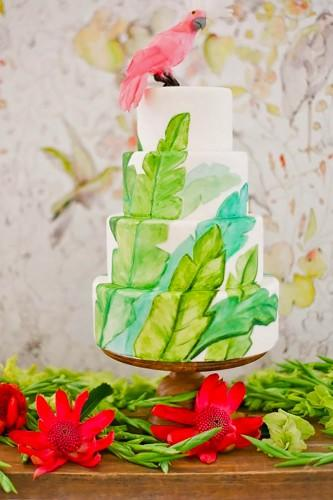 tropical wedding cakes 2