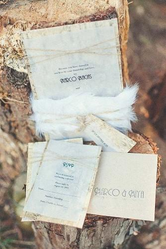 vintage ideas for wedding invitations 16