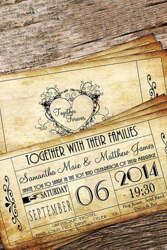 vintage invitations via etsy
