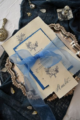 wedding monogram wedding letter with a monogram tied with a blue ribbon louise sinclair