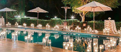 wedding pool party decoration featured