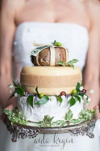 wedding cheese wheel cake 22