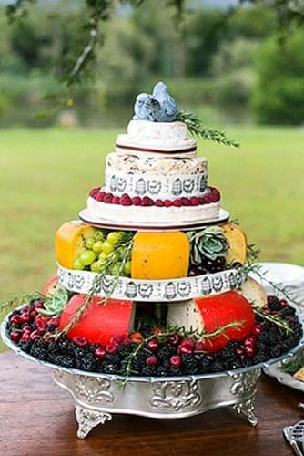 wedding cheese wheel cake 23