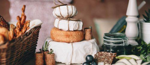 cheese wheel wedding cake featured