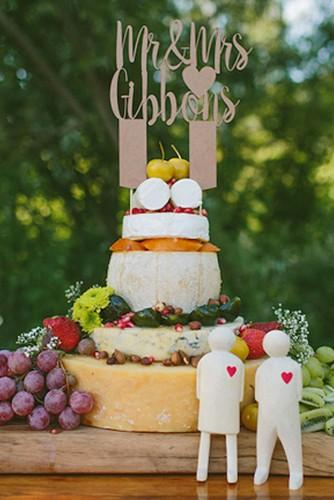 wedding cheese wheel cake 25