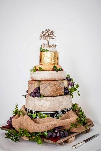 wedding cheese wheel cake 14