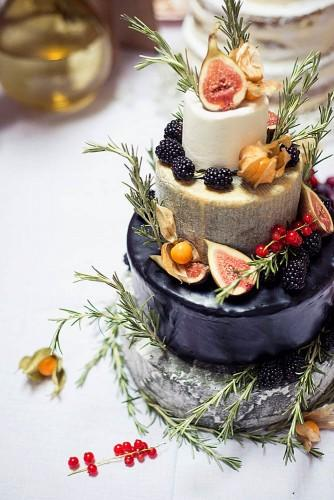 wedding cheese wheel cake 8
