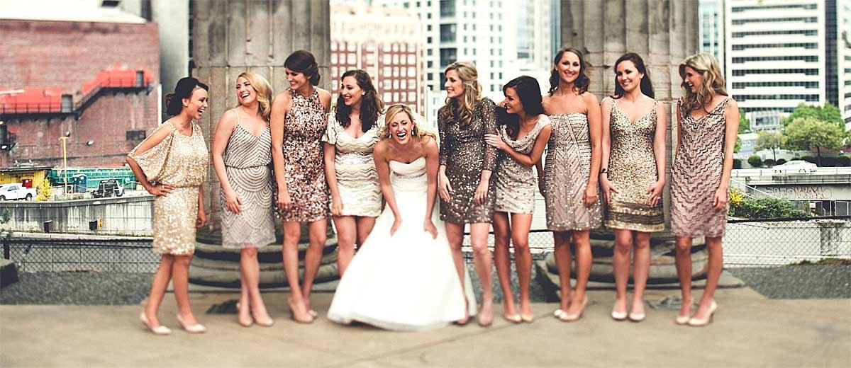 27 Full On Glitz Sequined Metallic Bridesmaid Dresses