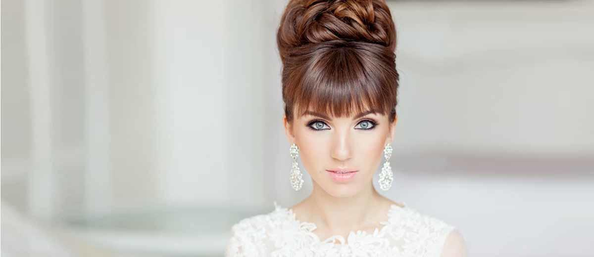 24 Chic Wedding Hairstyles With Bangs Wedding Forward