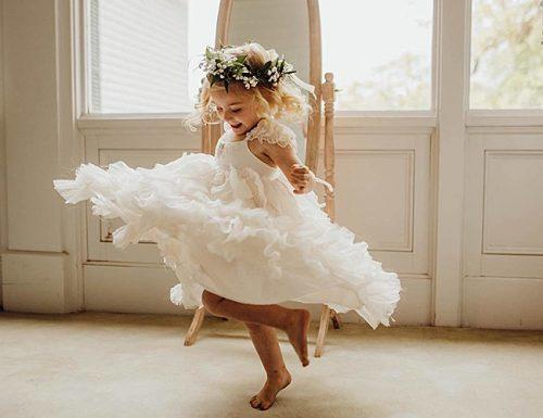 bridesmaid proposal flower girl beauty