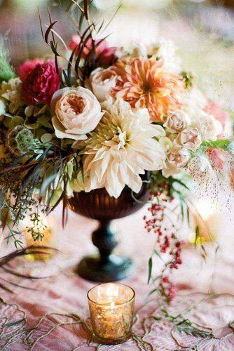 fall wedding dahlias bouquets 3