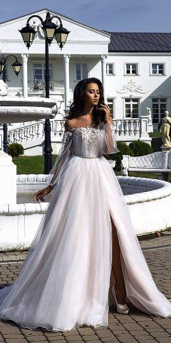 tina valerdi wedding dresses natural waist long sleeve tulle 9F8A9894