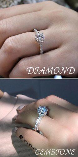 cheap engagement rings simple