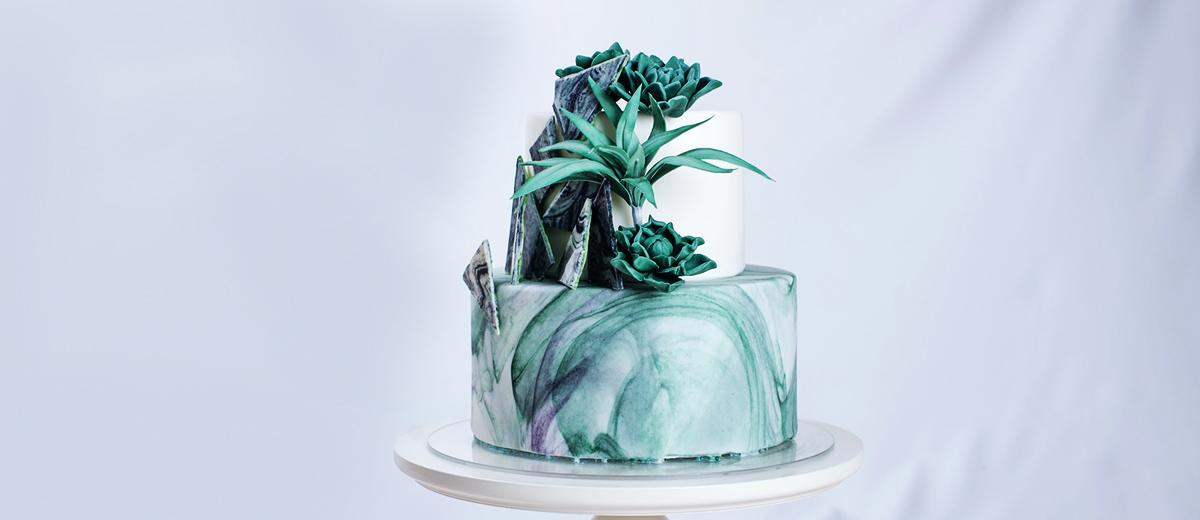 colored wedding cakes featured