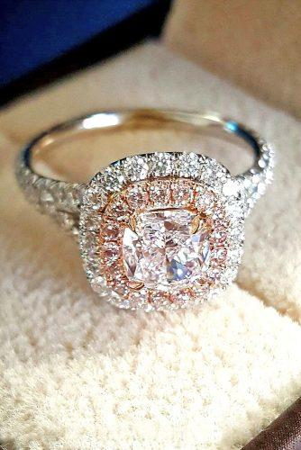 cushion cut diamond rings modern halo engagement rings 2