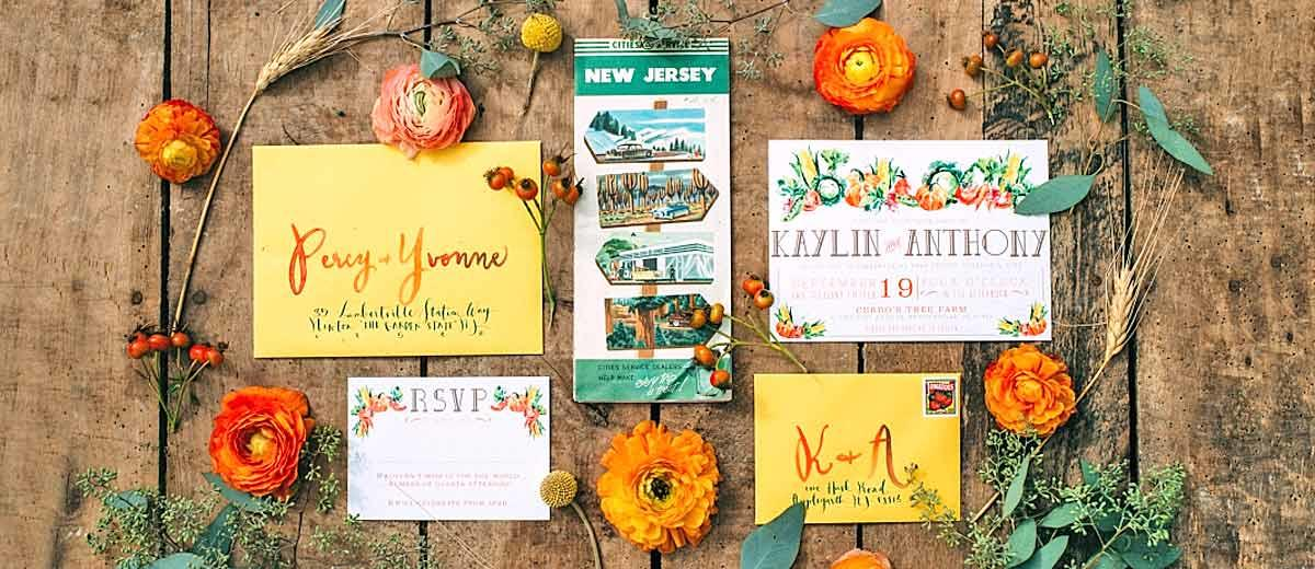 fall wedding invitations main