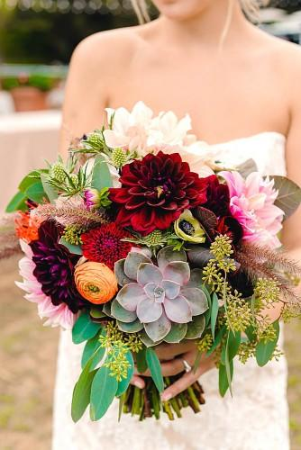 charming fall little wedding bouquets 3