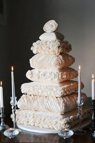 textured wedding cakes unusual white each layer with a texture fatima santos via instagram
