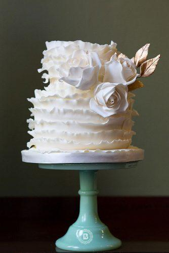 textured wedding cakes white small with ruffles decorated with flowers elizabeth solaru wedding cakes via instagram