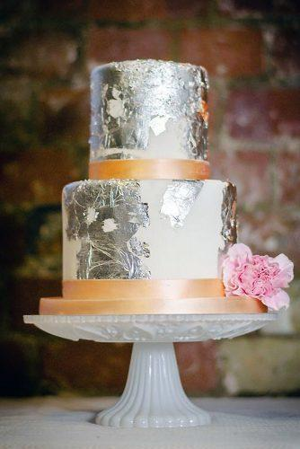 textured wedding cakes white with silvery metallic texture and pink flower fionas cake boutique