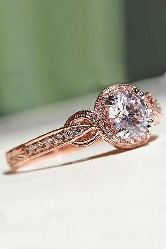 vintage rose gold engagement rings 5