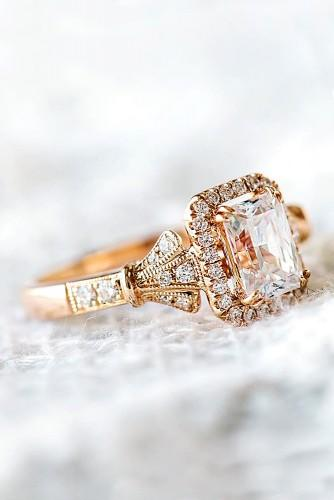 vintage rose gold engagement rings 4