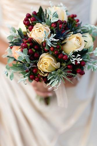 beautiful winter posy wedding bouquets 6