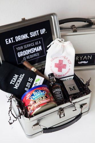 box for men groomsmen proposal ideas something turquoise