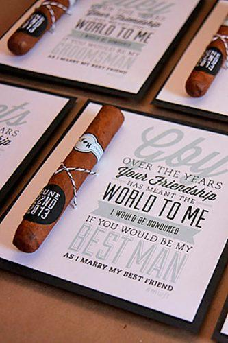 cigar groomsmen proposal ideas creative with a k