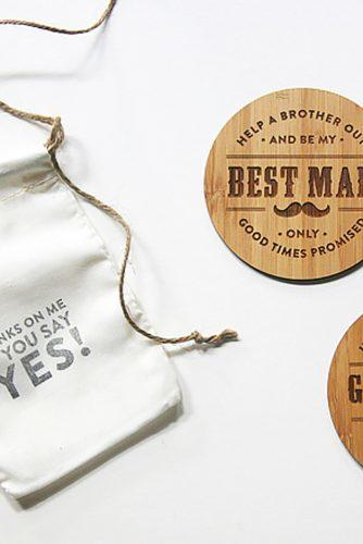 cork stand groomsmen proposal ideas frankies girl designs