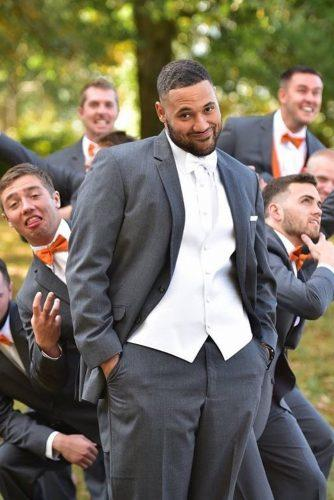 groomsmen photos funny groom with groomsmen in a park melanie fritz via instagram