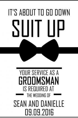 groomsmen proposal ideas white paper black text jada bee