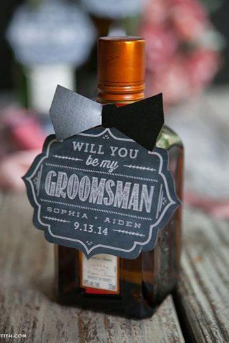 groomsmen proposal ideas will you be my gromsman bottle LiaGriffith