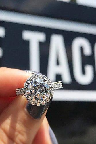 halo engagement rings diamonds round tacoriofficial via instagram