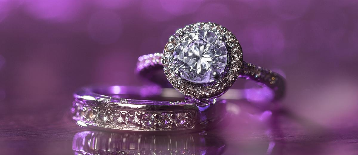 halo engagement rings featured