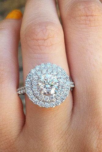 halo engagement rings halo round diamond diamondsbyraymondlee via instagram