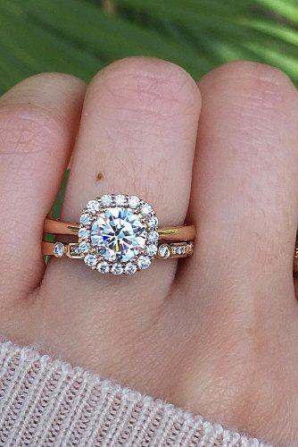 halo engagement rings rose gold kirkkara via instagram