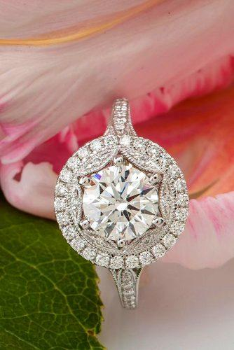 round cut halo effect engagement rings 6