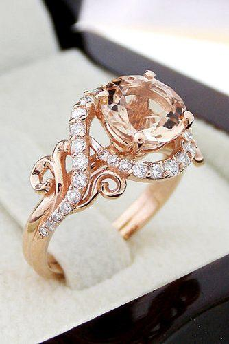 morganite set and art deco engagement rings 1