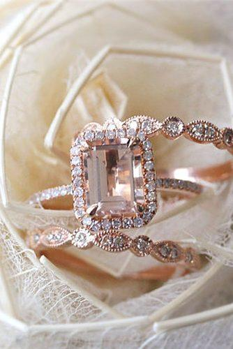morganite set and art deco engagement rings 4