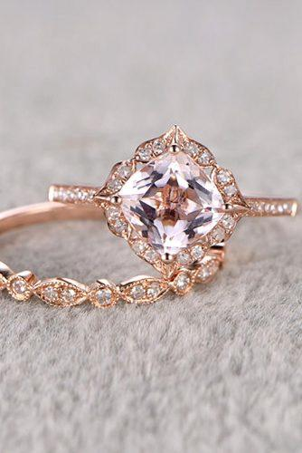 morganite bridal ring set 1