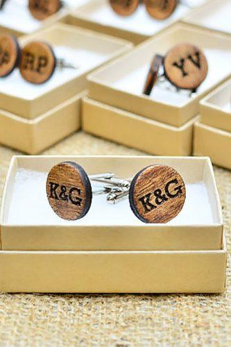 wood cufflinks groomsmen proposal ideas hart papery